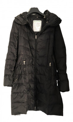Benetton Black Polyester Coats