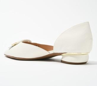 Franco Sarto Leather Kiltie Flats - Reed