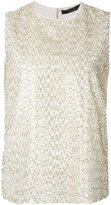 Max Mara metallic detail tank - women - Silk/Metallic Fibre - 40