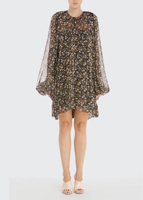 No.21 Floral Chiffon Swing Dress