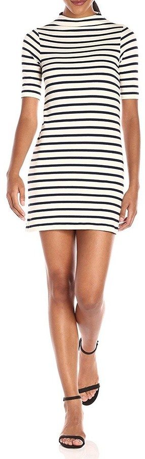 French Connection Women's Terry Stripe Half Sleeve Dress
