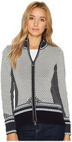 Dale of Norway Viktoria Jacket (C-Navy/Ice Blue/Grey Melange/Off-White) Women's Coat