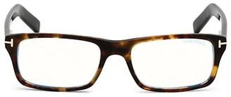 Tom Ford 55MM Square Blue Block Optical Glasses