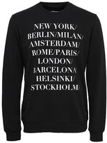 Only And Sons Word-Print Crew Neck Sweatshirt
