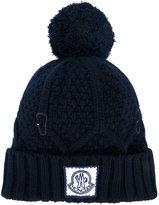 Moncler Gamme Bleu ribbed knit bobble hat