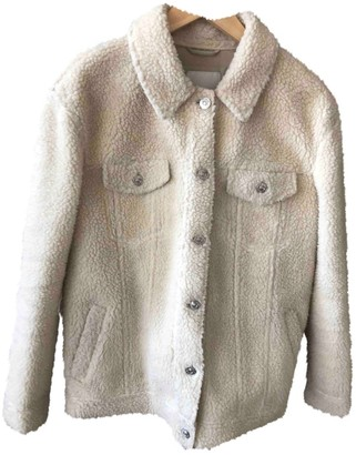 River Island White Faux fur Jacket for Women