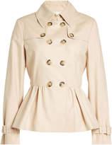 Moschino Cotton Trench Jacket with Peplum