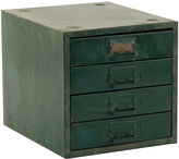 Rejuvenation 4-Drawer Industrial Parts Cabinet in Green c1940