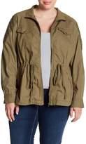 Blu Pepper Lace Shoulder Utility Jacket (Plus Size)