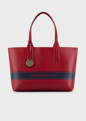 Emporio Armani Shopper With Logo Charm And Band