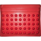 Christian Louboutin Red Leather Wallet
