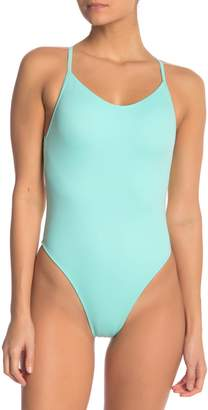 Outdoor Voices Dive Back Cutout One-Piece Swimsuit