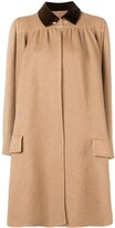 Valentino Pre Owned 1970's draped flared coat