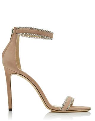Jimmy Choo Dochas Crystal-Embellished Suede Sandals