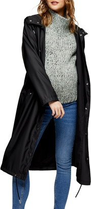 Topshop Longline Maternity Raincoat