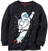 Carter's Long-Sleeve Astronaut Graphic Tee