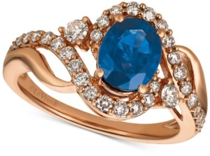 LeVian Le Vian Strawberry & Nude Sapphire (1-1/3 ct. t.w.) & Diamond (5/8 ct. t.w.) in 14k Rose Gold