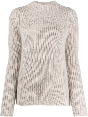 Gentry Portofino Chunky Knit High Neck Jumper