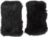 Barneys New York Women's Rabbit Fur Fingerless Gloves-Black