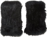 Barneys New York Women's Rabbit Fur Fingerless Gloves