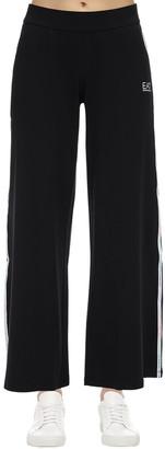 EA7 Emporio Armani Train Master Wide Leg Cotton Sweatpants