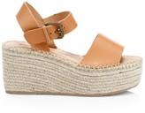 Soludos Minorca Leather High Platform Espadrille Sandals