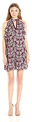 Taylor & Sage Women's Printed Ruffle Sleeveless Dress