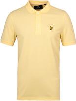 Lyle & Scott Pale Yellow Pique Polo Shirt