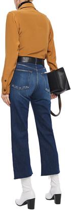 Rag & Bone Maya Cropped Frayed High-rise Kick-flare Jeans