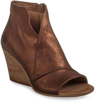 Miz Mooz High Wedge Leather Open Toe Sandals -Kimball