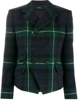 Polo Ralph Lauren plaid double breasted blazer