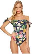 Unique Vintage Off Shoulder Hermosa Swimsuit Women's Swimsuits One Piece