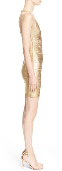 Herve Leger Women's Metallic Bandage Dress