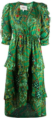 BA&SH Happy abstract-print surplice dress