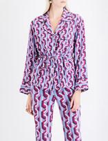 Gucci Geometric-print silk-crepe shirt