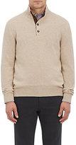 Luciano Barbera Men's Cashmere Mock-Turtleneck Sweater-TAN