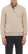Luciano Barbera MEN'S CASHMERE MOCK-TURTLENECK SWEATER