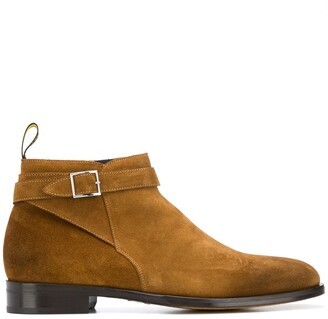 Doucal's Buckled Strap Ankle Boots