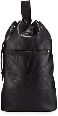 MCM Men's Max Coated Canvas Large Drawstring Backpack
