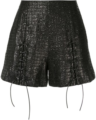 Olivier Theyskens Metallic Shorts