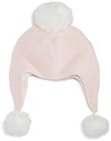 Elegant Baby Girls' Pom-Pom Aviator Hat - Baby