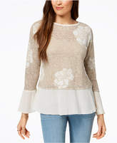 Style&Co. Style & Co Layered-Look Sweater, Created for Macy's
