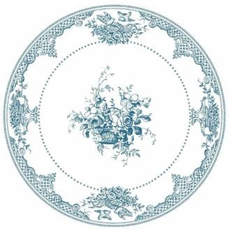 Gien Fleurs Depareillees Bleu Dessert Plate (23.2Cm)