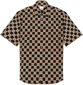Burberry Trulo Short Sleeve Shirt in Beige   FWRD