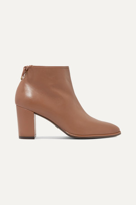 Stuart Weitzman Gardiner Leather Ankle Boots - Brown