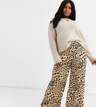 AX Paris Plus red leopard print pants