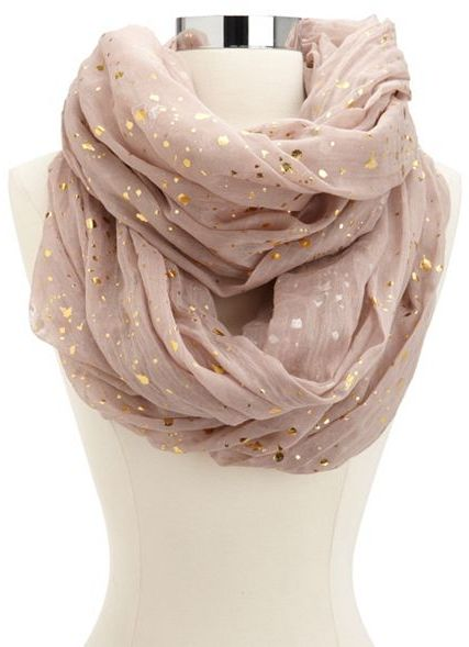 Charlotte Russe Metallic Dot Infinity Scarf