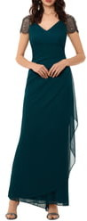 Xscape Evenings Embellished Mesh Column Gown