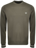 Fred Perry Crew Neck Sweatshirt Jumper Green