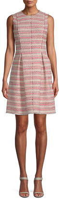 Rebecca Taylor Optic Tweed A-Line Dress
